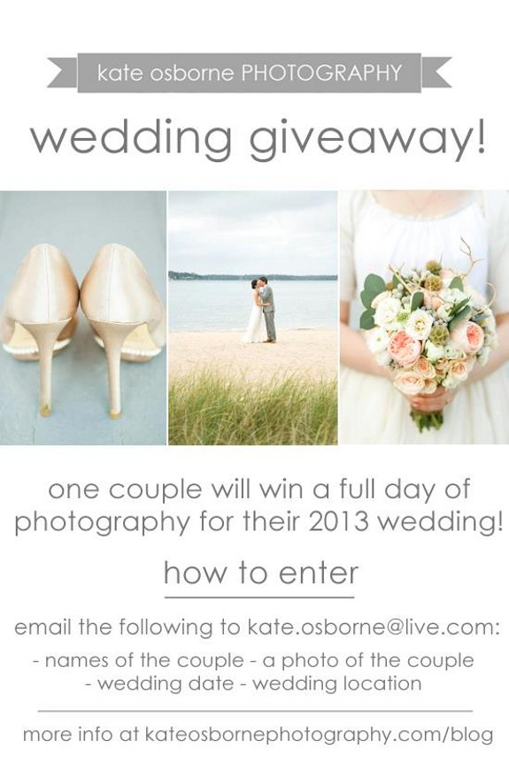 I Have To Share This Giveaway With Y All Kate Is An Amazing Photographer And She Hens Been One Of My Wedding Photographers