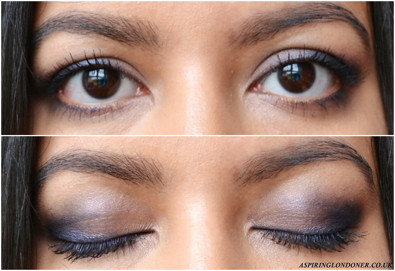 No7 Stay Perfect Eyeshadow Trio in In the Navy Swatch - Aspiring Londoner