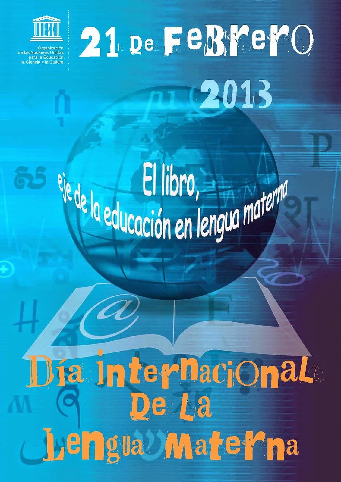 Afiche Día Internacional de la Lengua Materna 2013 - UNESCO