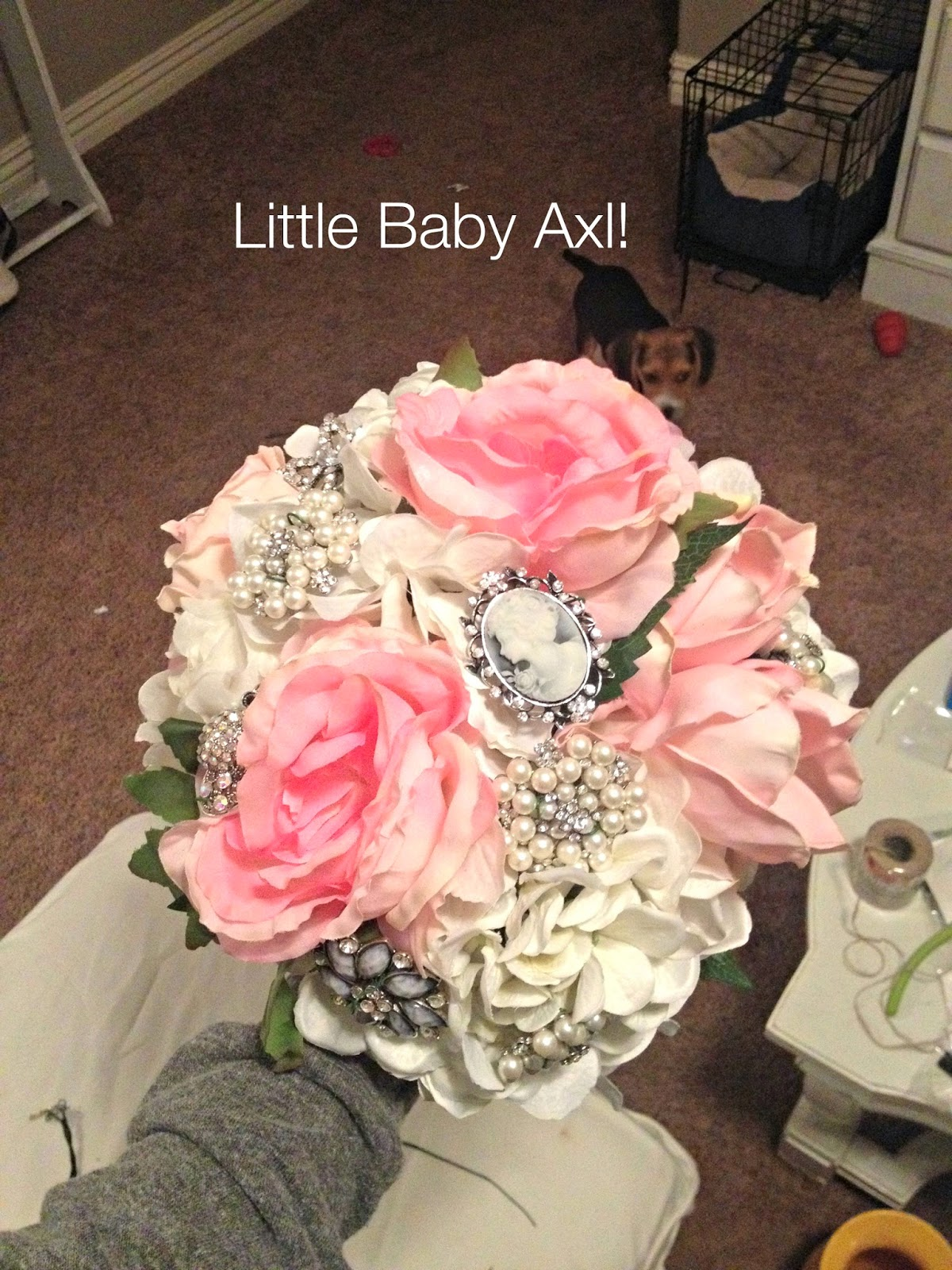 Rose & Co Blog: My DIY Brooch Bouquet-On a Budget