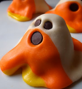 Make Candy Corn Ghosts this Halloween!