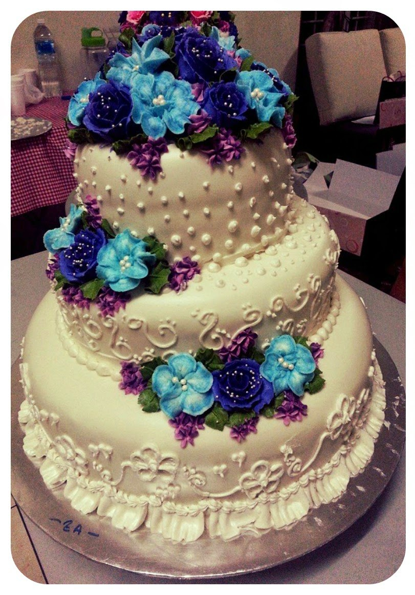3 TIER STACK WEDDING CAKE