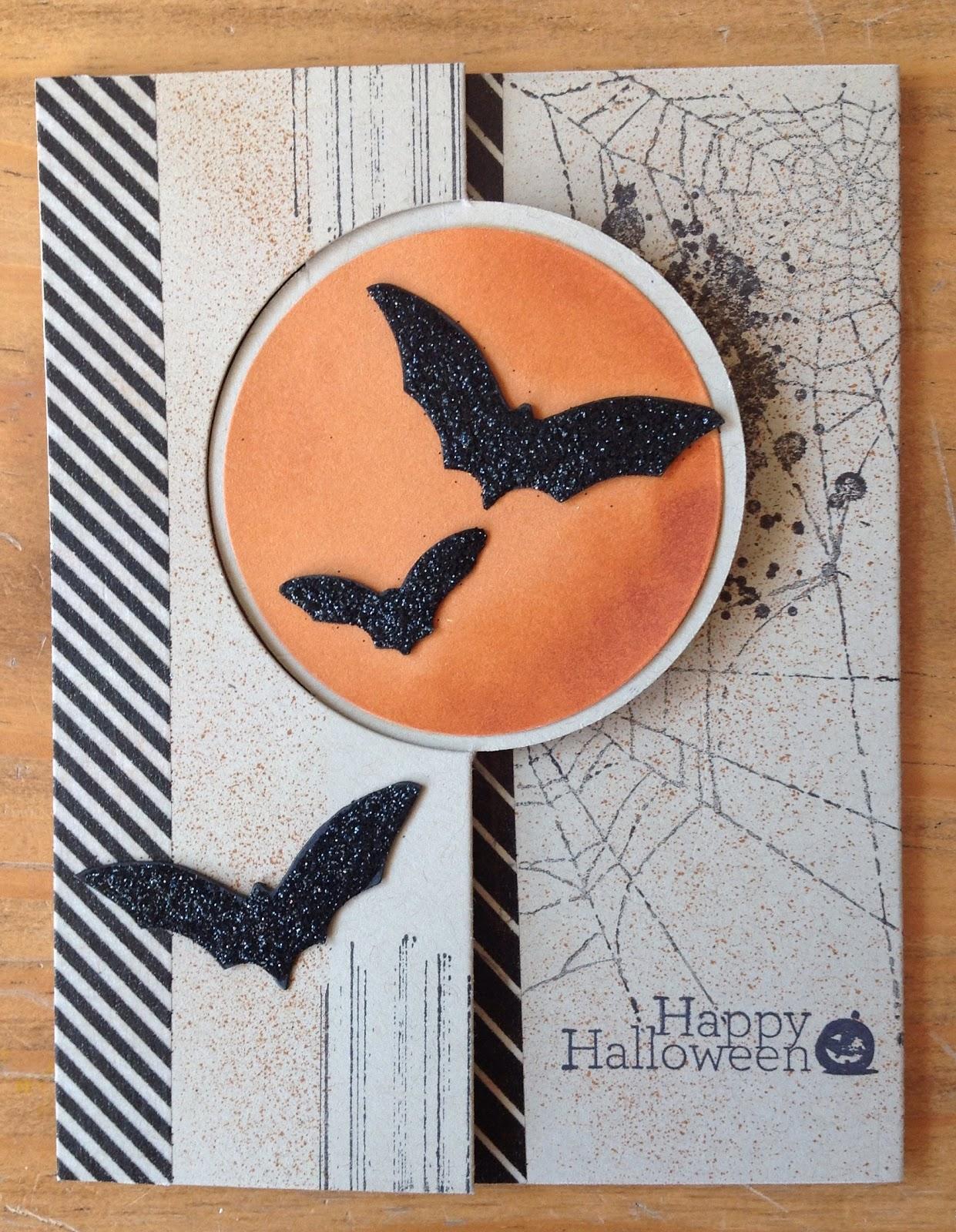Halloweenkarten mit Stampin`up, La Blanche, Tim Holtz, Pop-up Karte