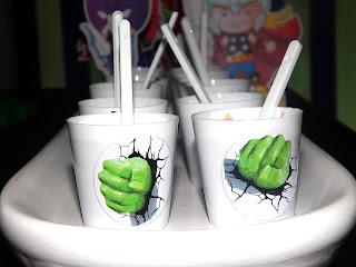 copinho de brigadeiro hulk