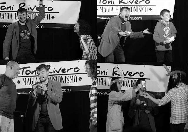 Mago Toni Rivero en las fiestas del pueblo El Manzano