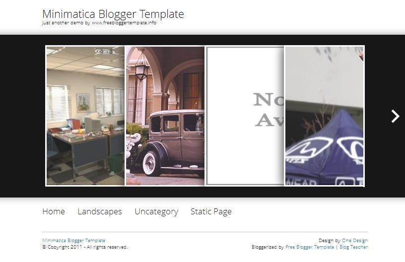 Minimatica Blogger Template