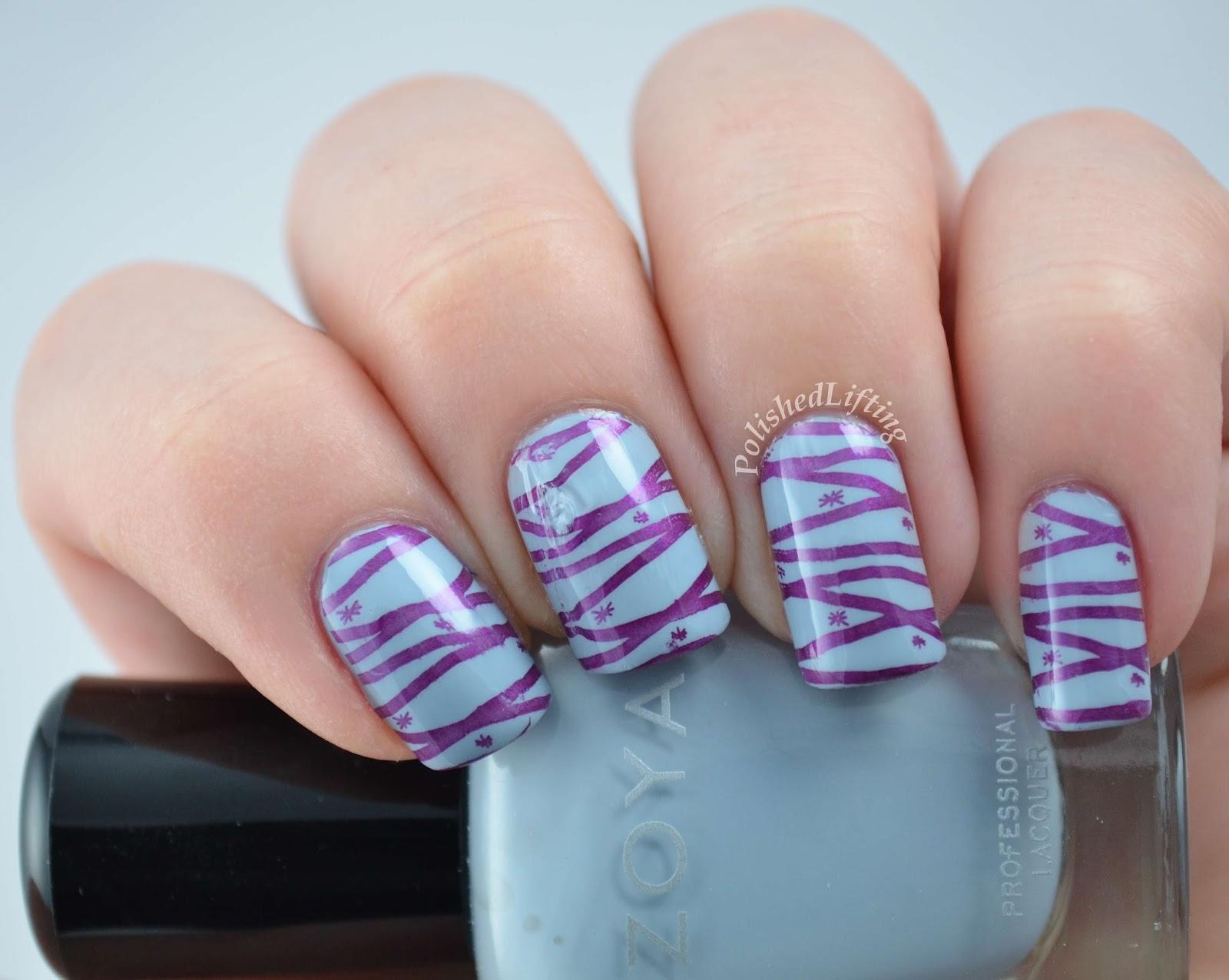Zoya Blu Sally Hansen Insta Dri Pronto Purple Vivid Lacquer 030