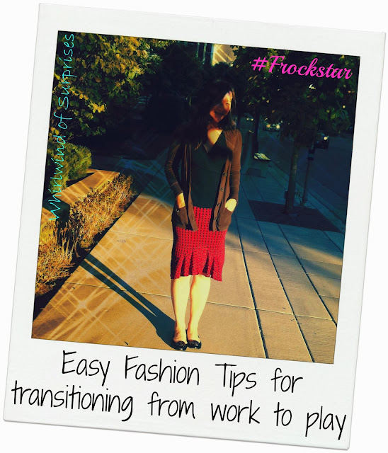 Tips for changing a day outfit to an evening outfit #Frockstar