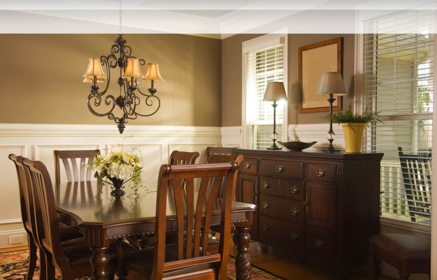 Fancy Spacious Dining Room Interior Design