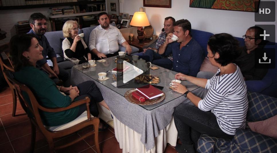 Oriol Junqueras con una familia Sevillana en el programa de LaSexta 'Salvados'