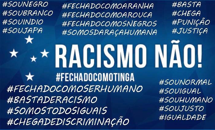 SOMOS CONTRA O RACISMO NO FUTEBOL