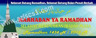 Desain coreldraw spanduk ucapan selamat Ramadhan 1434H