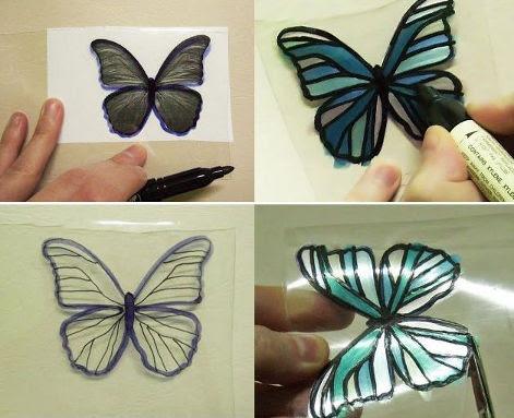 cara membuat kupu-kupu cantik dari botol plastik bekas