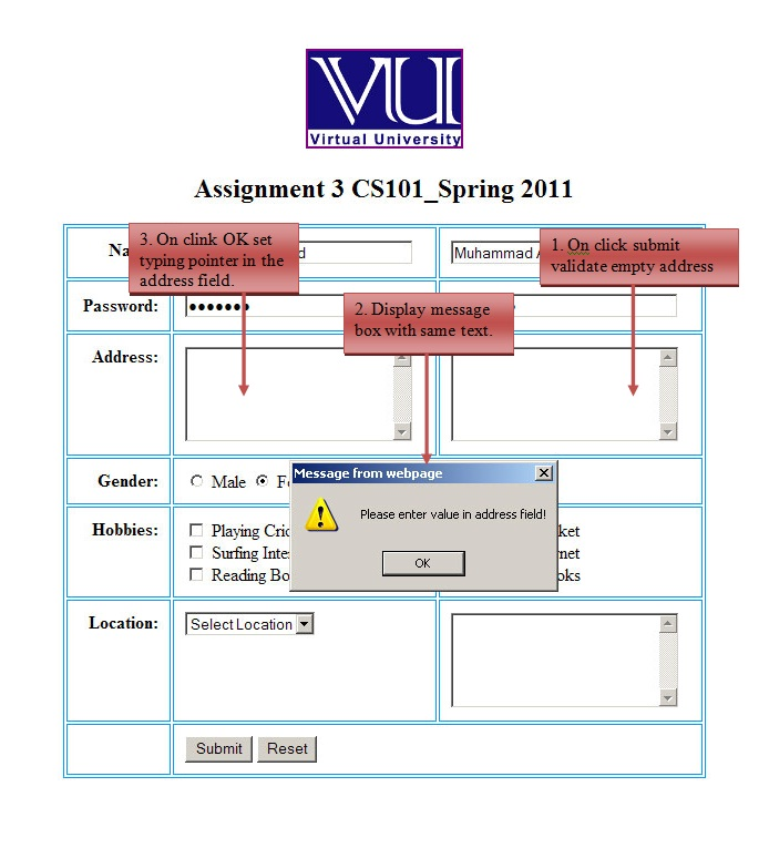 vu assignment solution