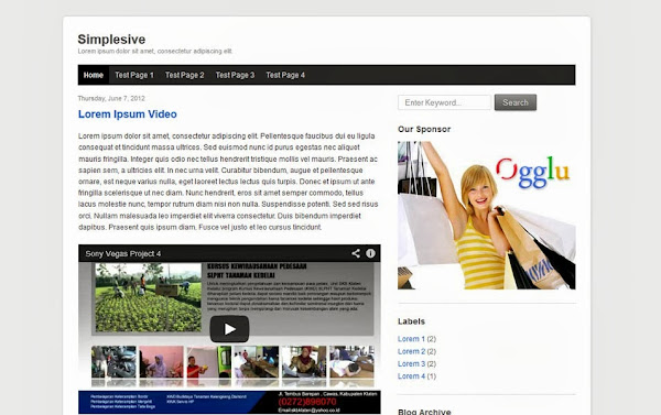 Simplesive – A Minimal Responsive Blogger Template