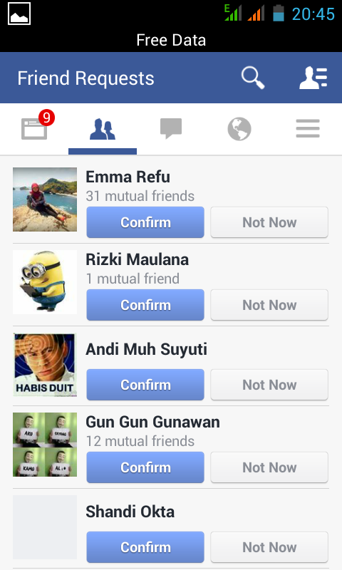 Ganti Kulit - Tampilan Baru Facebook On Mobile 2014