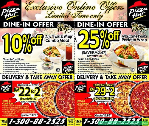 Expired Pizza Hut Coupon Codes & Coupons
