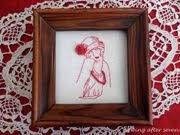 Redwork lady