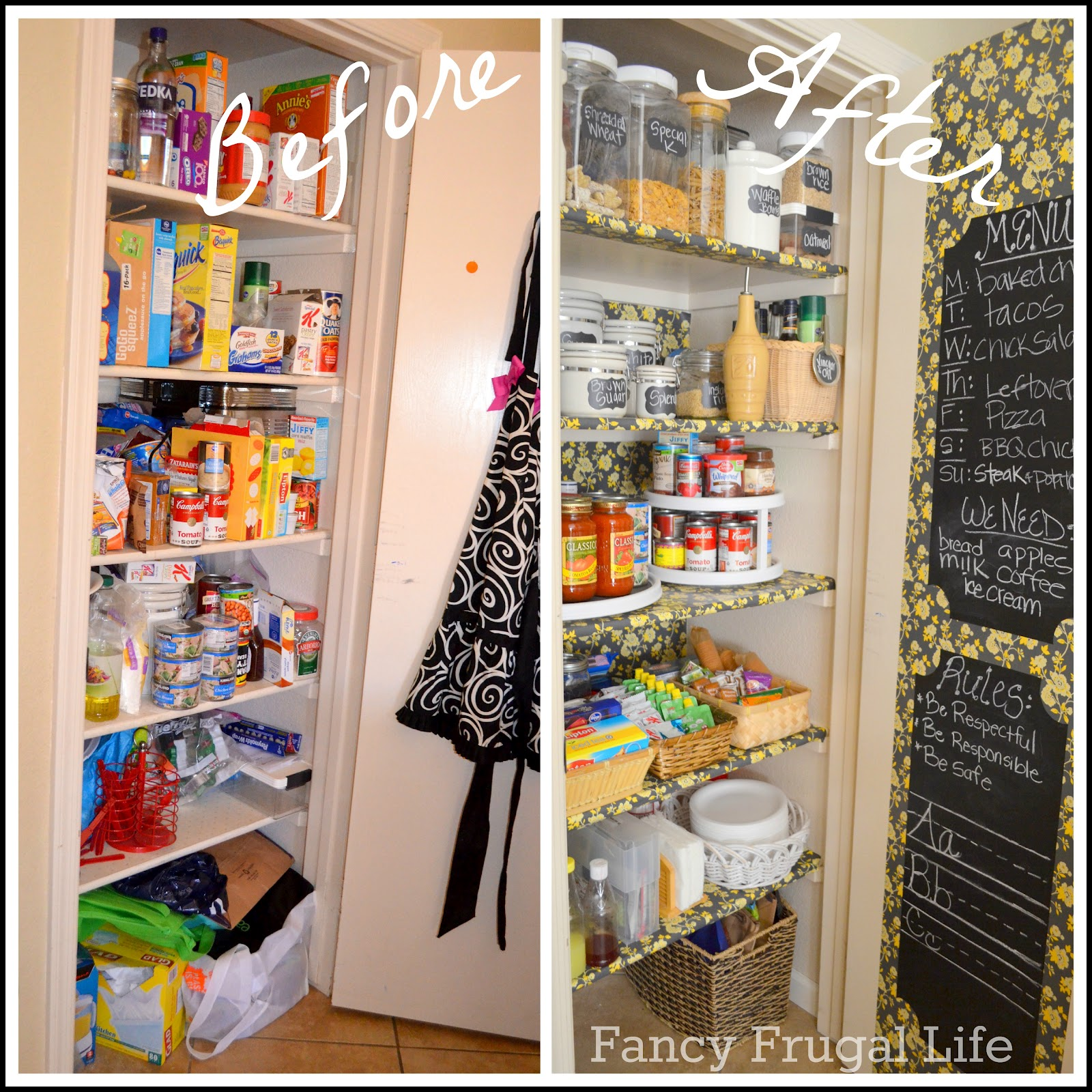 Organizing Pantry Shelves Realistically Organized Pantries: My Pantry Organized (Before & After