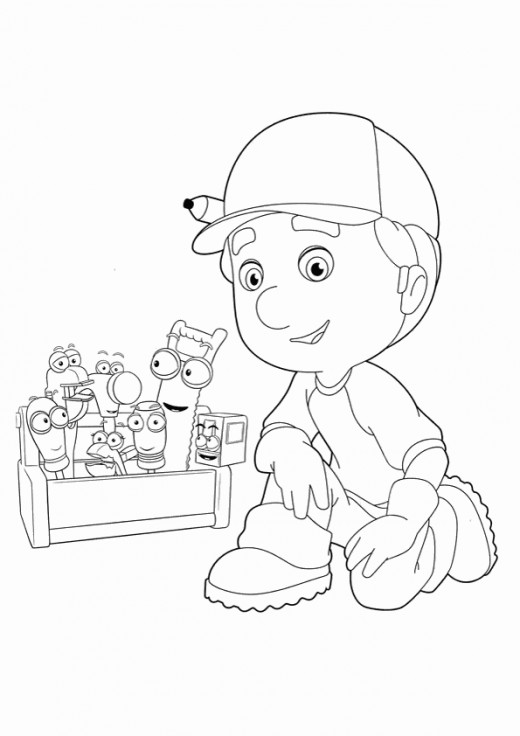 handy manny coloring pages e - photo#13