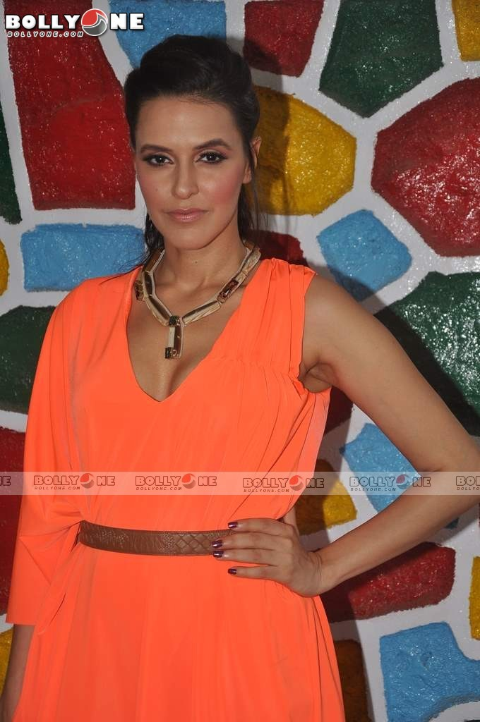  Neha Dhupia in orange dress -  Neha Dhupia in Orange Dress at UTV Stars &#8211; The Chose One show launch