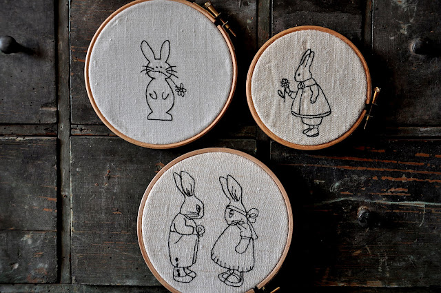 broderie de lapins