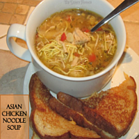 Asian Chicken Noodle Soup:  Slow Cooker