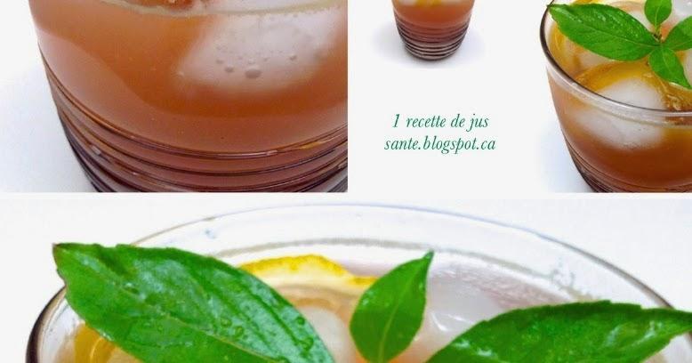 1 recette de jus sant jus de pomme au rooibos et au citron. Black Bedroom Furniture Sets. Home Design Ideas