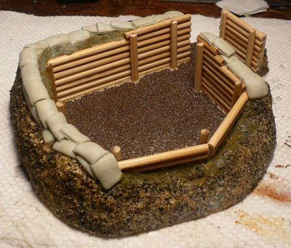 Finished Emplacement, Front View