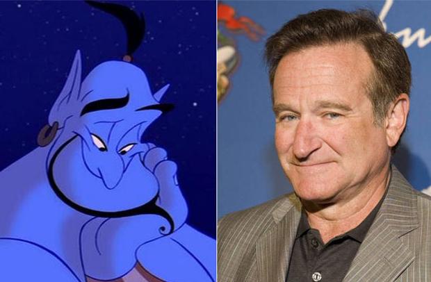 Os personagens da Disney na vida real - Gênio – Robin Williams