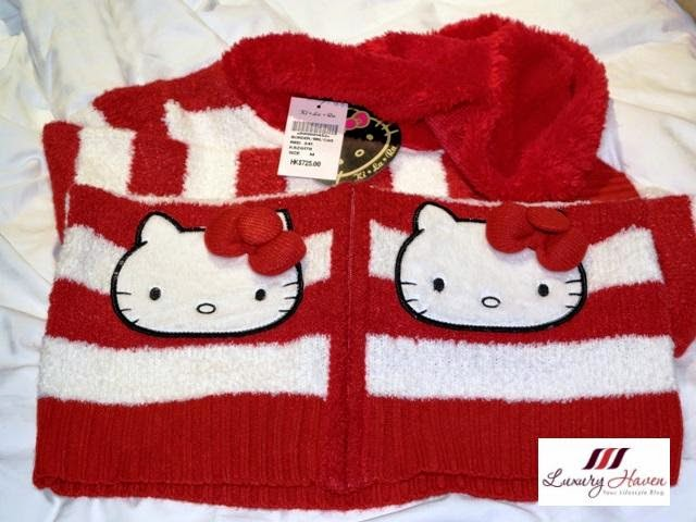 hong kong kirala hello kitty cardigan red stripes