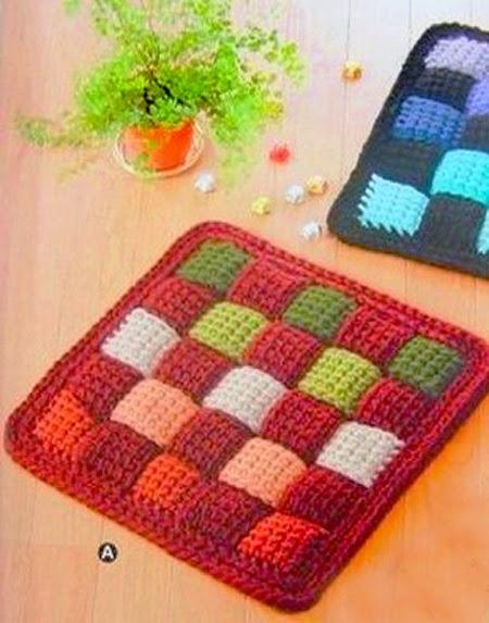 alfombra entrelazada tutorial y moldes crochet y dos