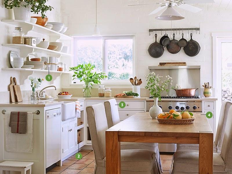 Una cocina blanca y llena de encanto desde my ventana blog de decoraci n - Cocinas azules y blancas ...