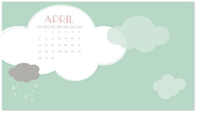 April Showers Wallpaper - Digital Download