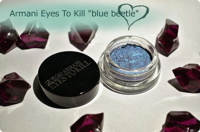 Meine Top 3 LE-Produkte - Armani Eyes To Kill Lidschatten BLUE BEETLE