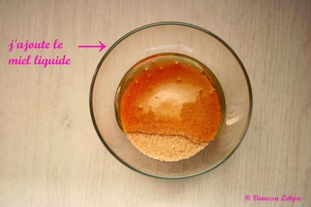 recettes facile de gommage corporel au miel et au sucre tuto expliqué en photo