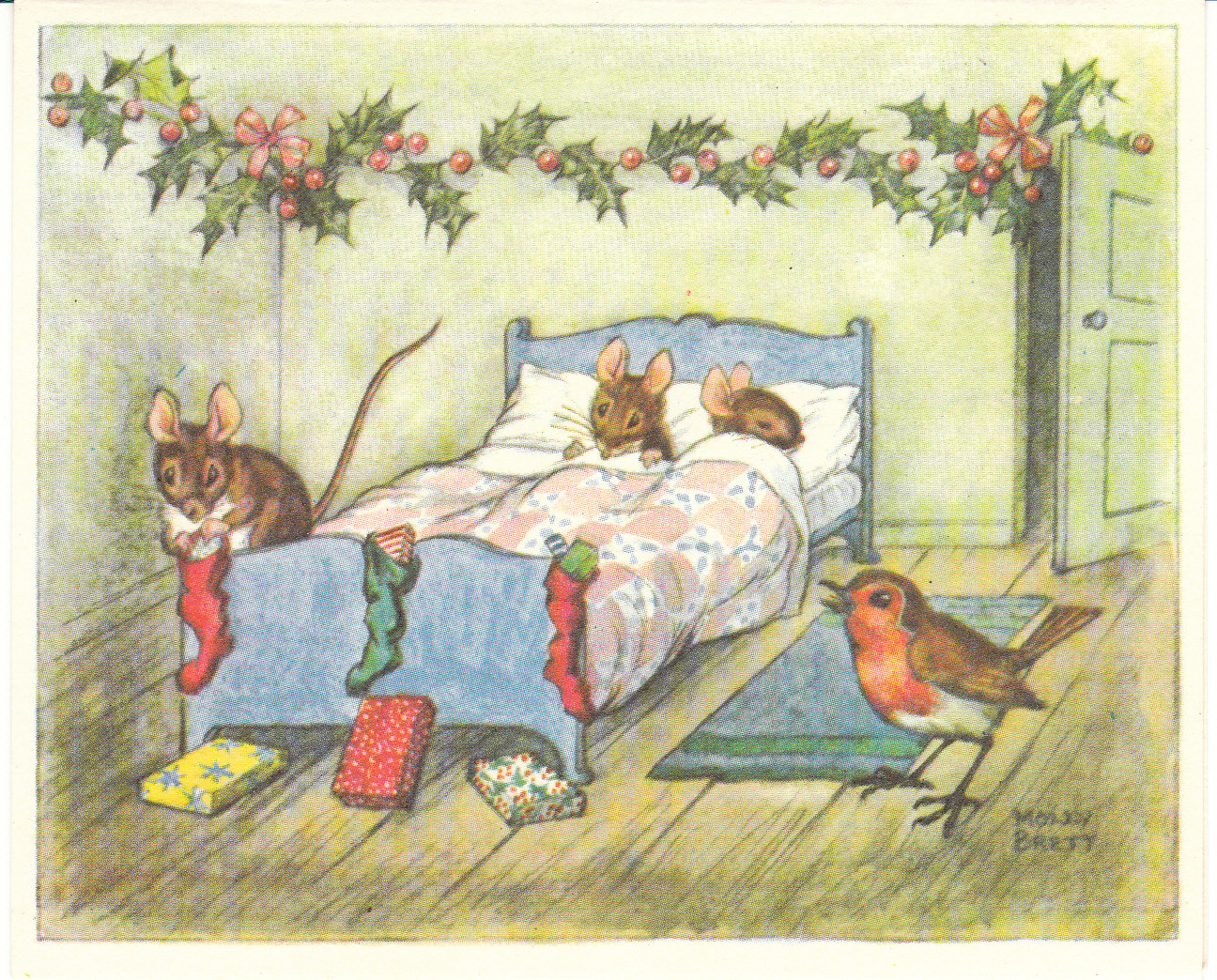 View from the Birdhouse: Never Discard a Vintage Christmas Card!