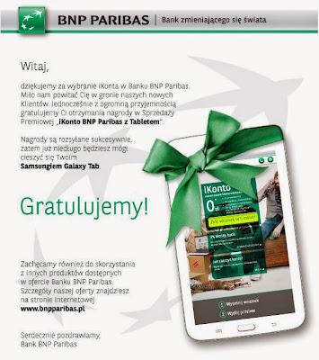 email z bnp paribas przyznanie nagrody tablet