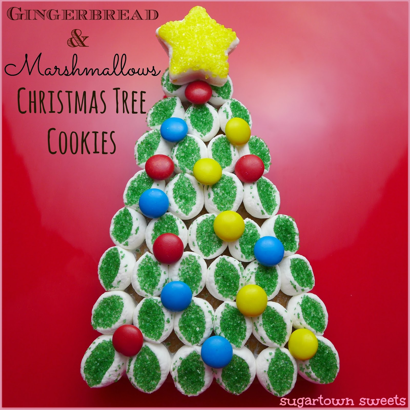 christmas in july gingerbread marshmallows christmas tree cookies