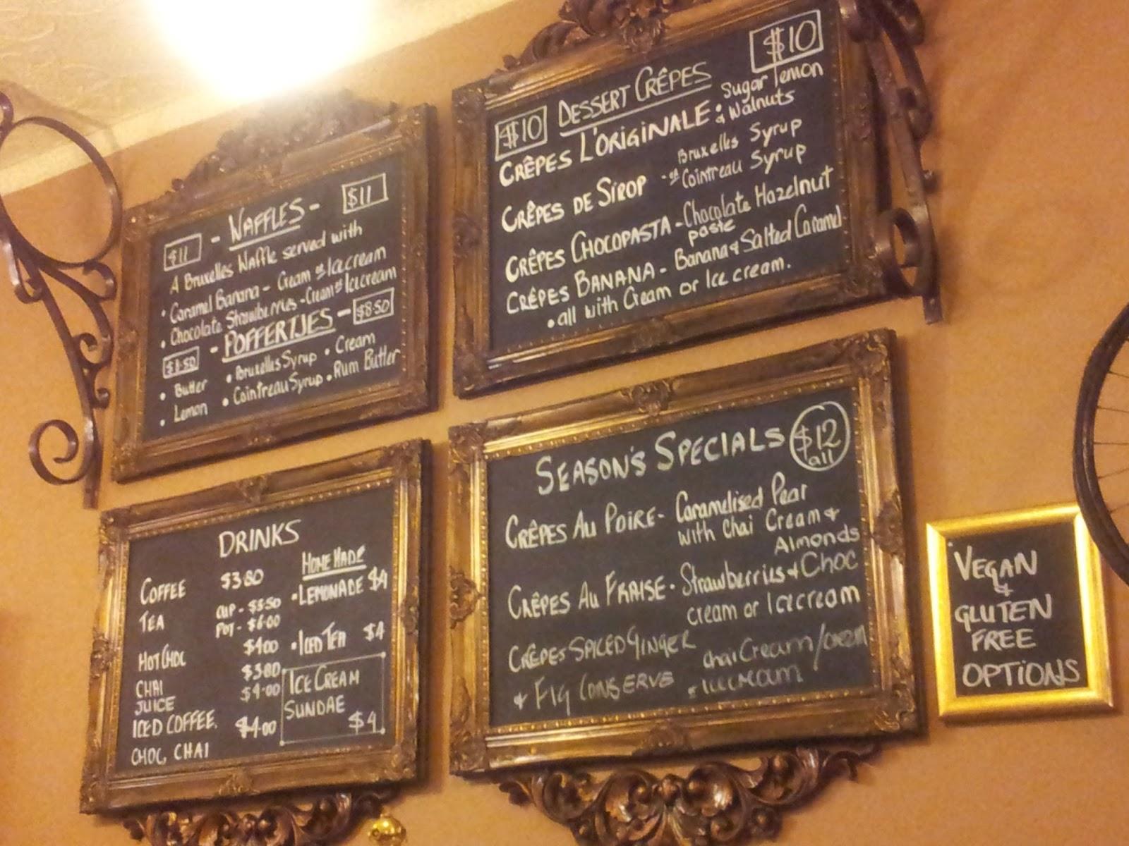 Creperie Bruxelles, Menu, Adelaide, Crepe, Dessert