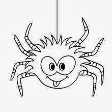 Halloween Spiders for Coloring, part 1