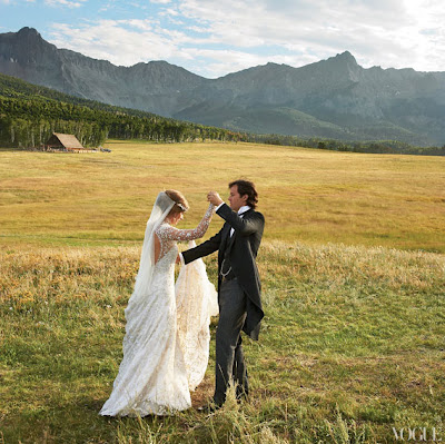 Lauren Bush and David Lauren Wedding Photo