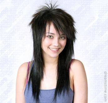 Corte estrella en pelo largo