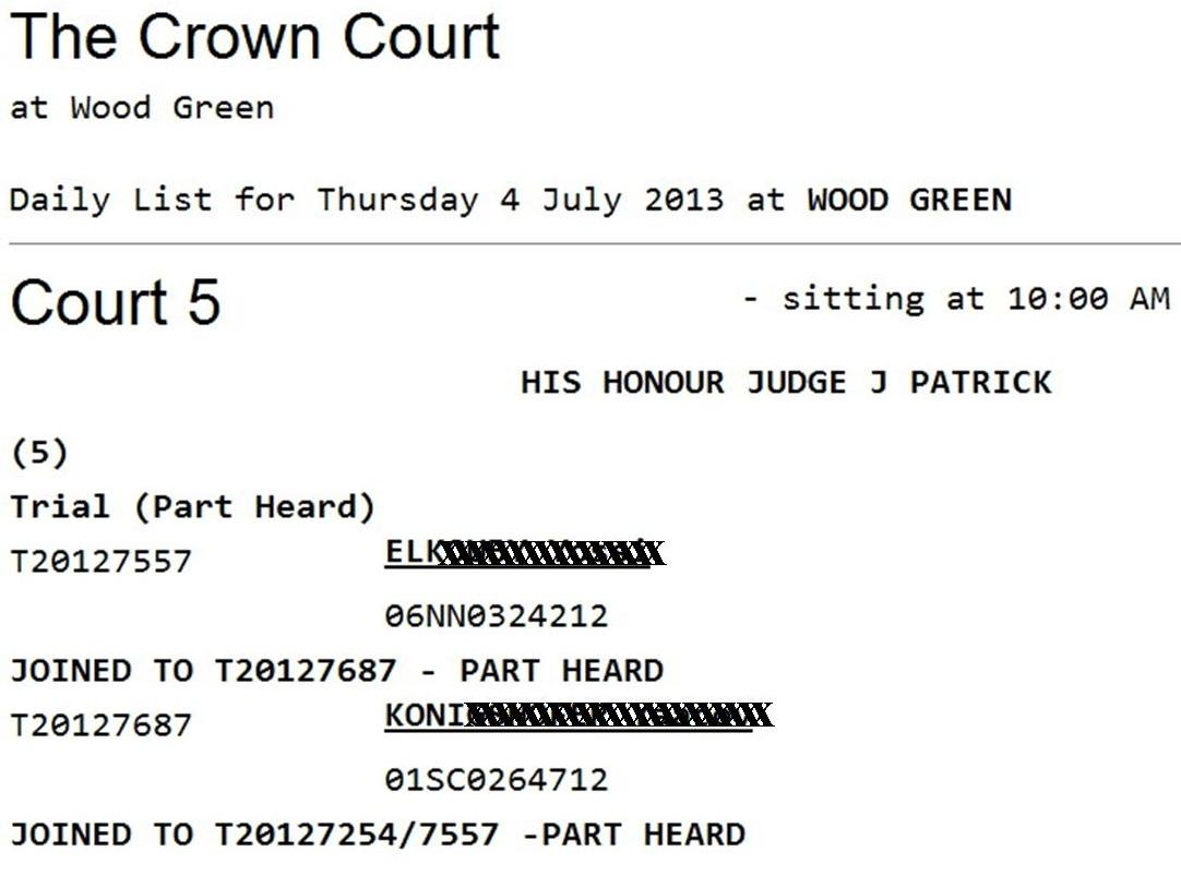My court date nc in Sydney