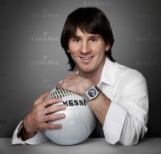 Lionel Messi smiles greatly