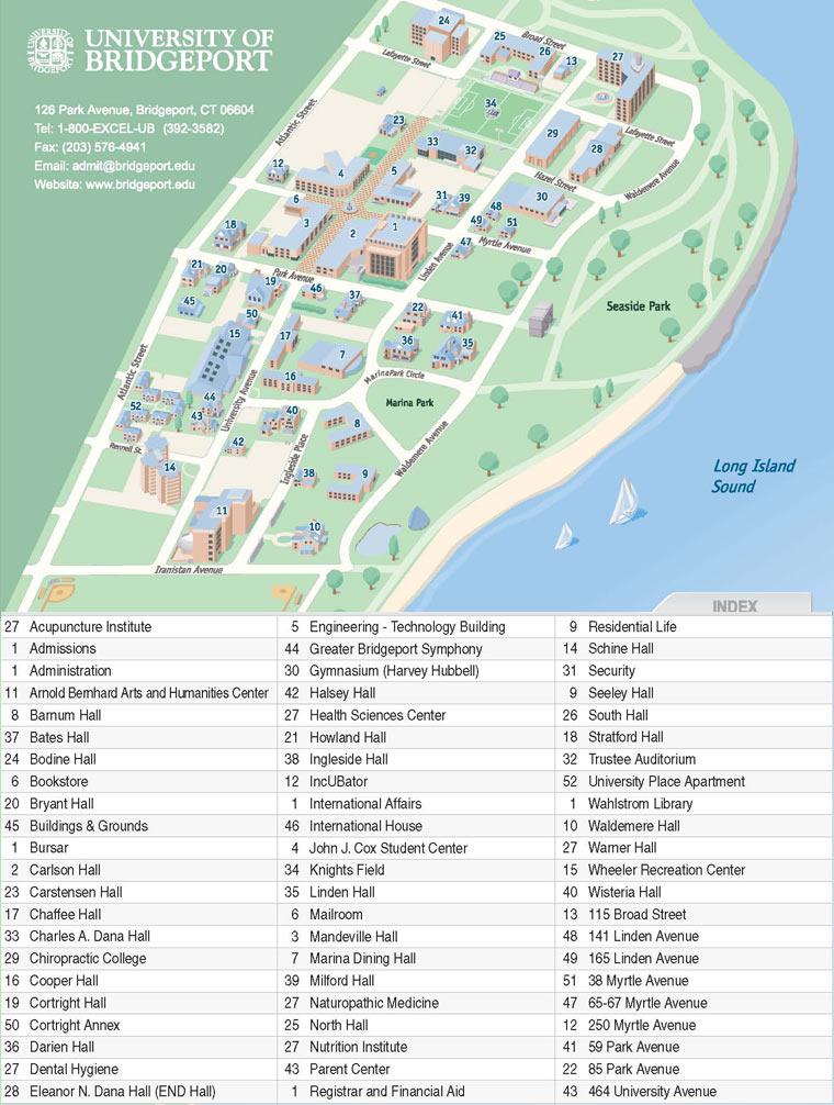 Quinnipiac Campus Map 84366 Loadtve