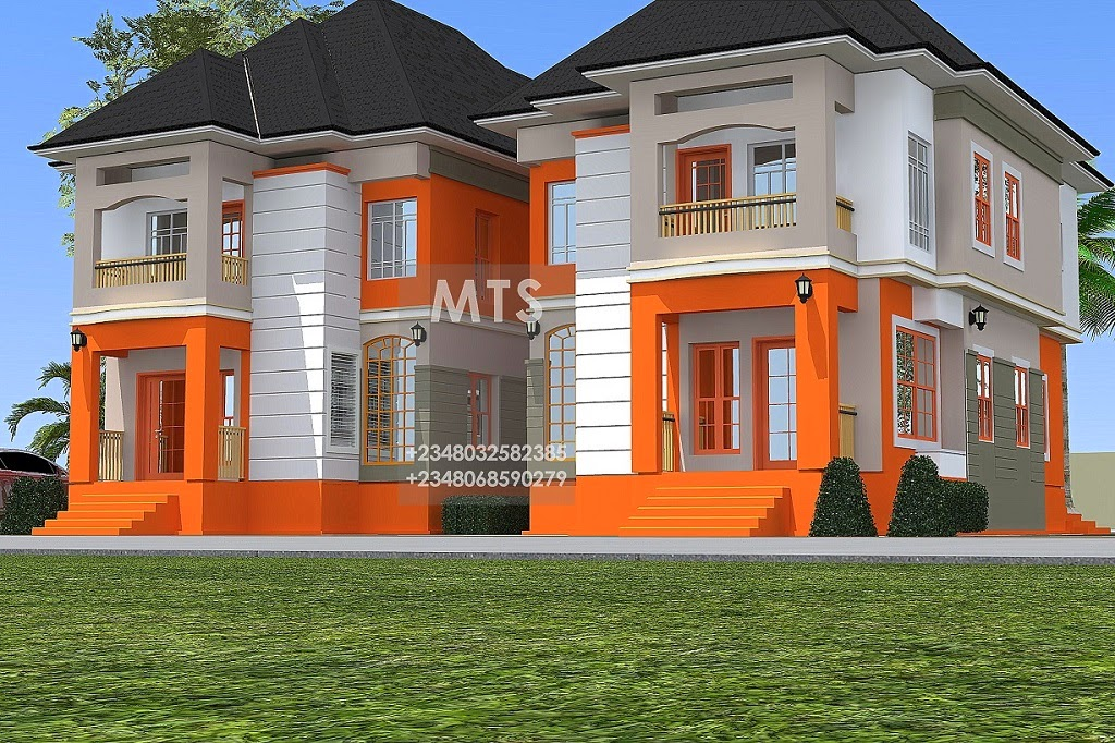 Mr patrick 4 bedroom twin duplex residential homes and for 4 bedroom duplex designs