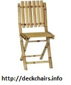 High Bamboo Folding Chairs