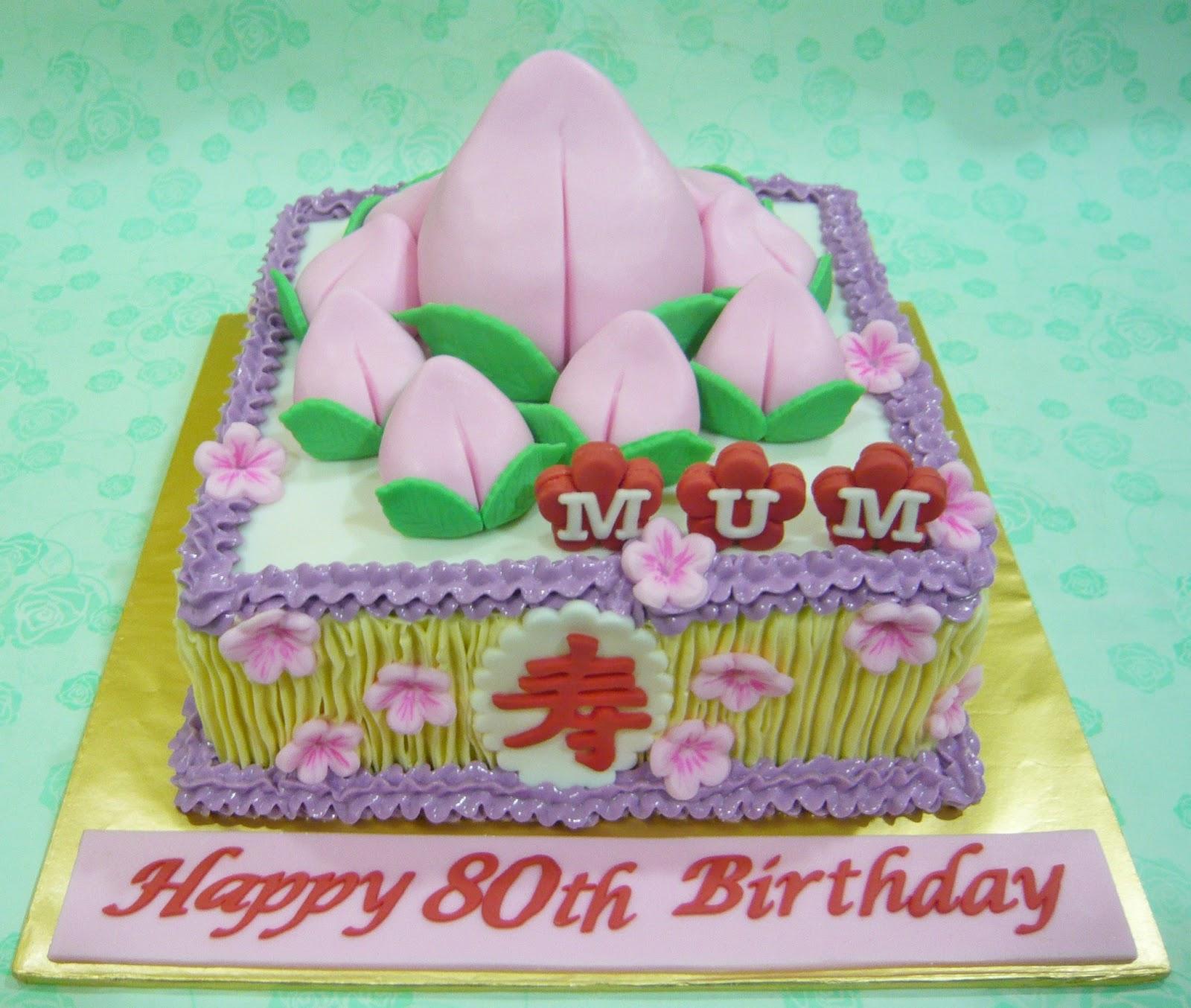 Cake Decorating Course In Hk : Jenn Cupcakes & Muffins: Longevity Peach Cake
