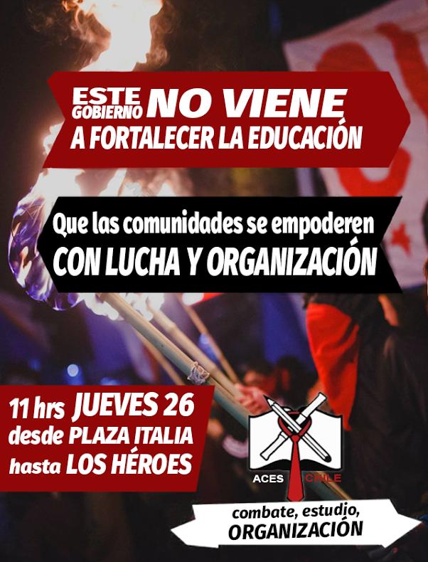 SANTIAGO: ESTE GOBIERNO NO VIENE A FORTALECER LA EDUCACION